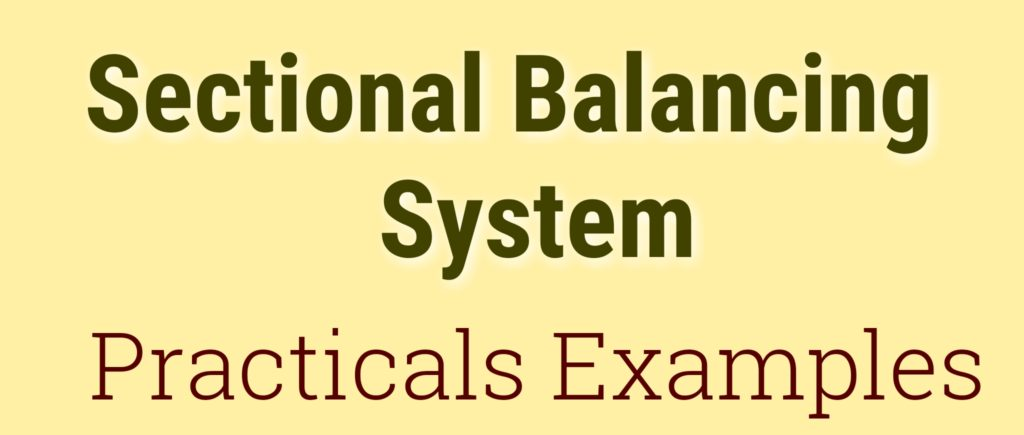 Sectional balancing system Practical Examples
