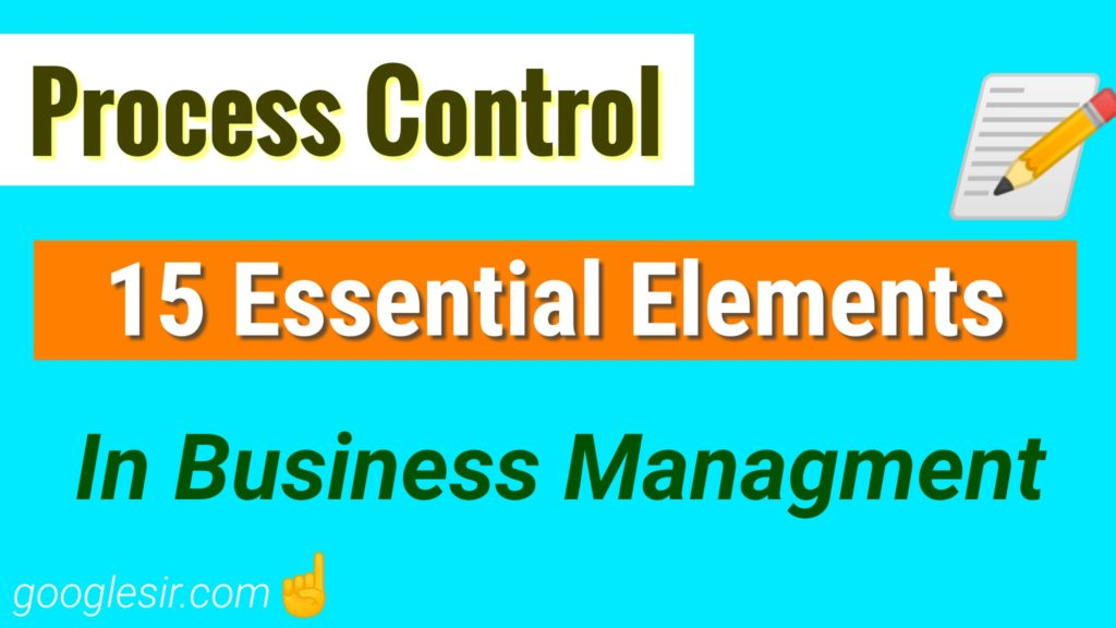 Elements of Control Process in Management