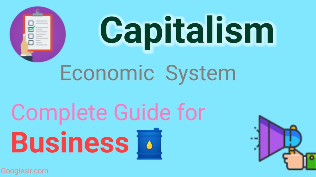 pros and cons of capitalism economy