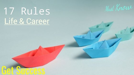 golden rules for success In life and career