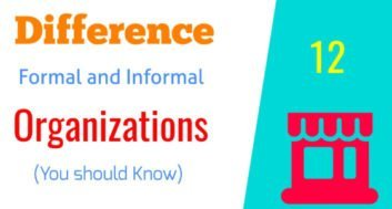 Differences between Formal and Informal Organization