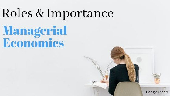 Role And Importance Of Managerial Economics