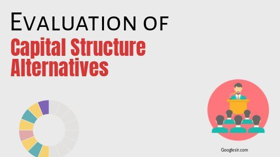 evolution of capital structure alternatives