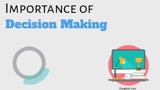 importance of decision making in management