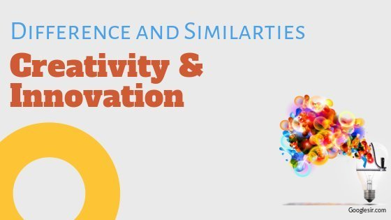difference and similarity between innovation and creativity