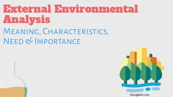 External Environmental Analysis Meaning Features Need & Importance
