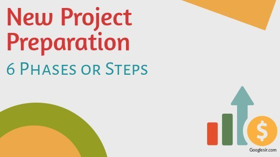 stages or phases for preparation of new projects in business