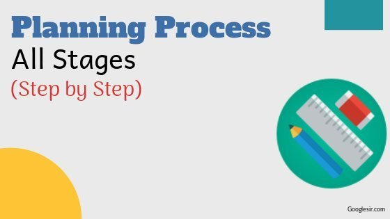 steps in organizational planning process