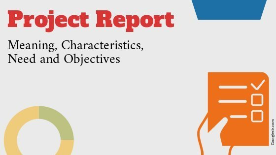 characteristics and objectives of project report