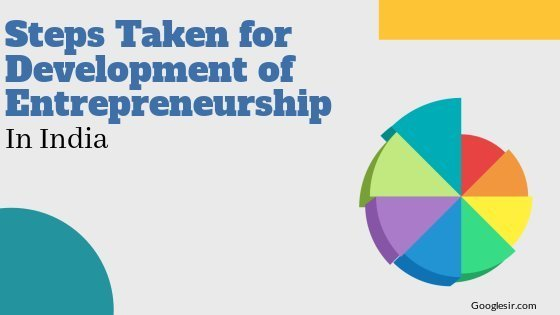 Steps taken for development of entrepreneurship in India