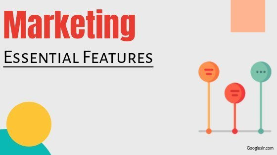 features of marketing