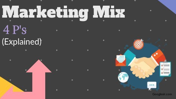 components of marketing mix with examples