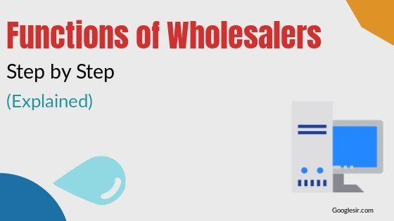 Functions of wholesalers