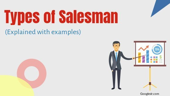 types of salesman for selling products