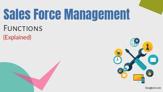 Steps in Sales Force Management
