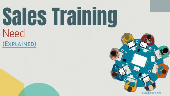 need of sales training