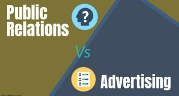 difference between public relations and advertising