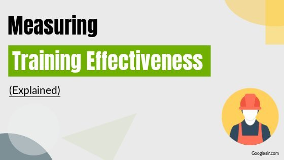 ways to measure effectiveness of employee training