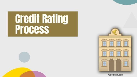 Process of the credit rating of financial instruments