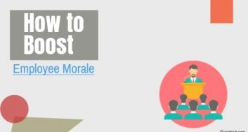 how to boost or build up employee morale
