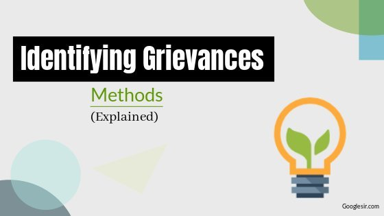 methods of knowing about employee grievances